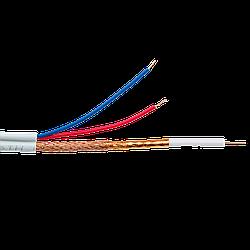 Кабель для видеонаблюдения коаксиальный с питанием GreenVision GV-03-R-RG-59 white