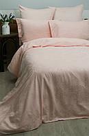 Жаккардовое постельное белье Deco Bianca сатин jk16-03 somon лососевое евро  размер c4f35adee5c3f