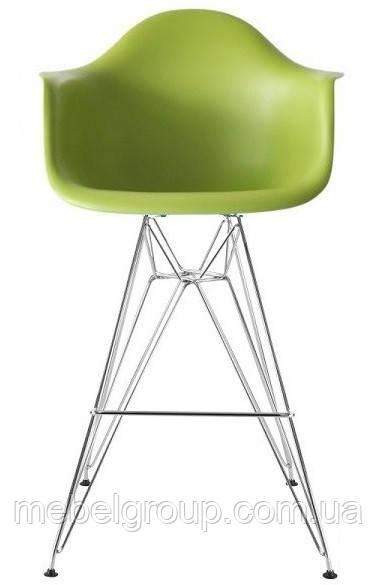 Стілець барний Тауер Eames зелений