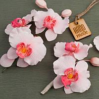 """Свадебные украшения: Свадебная веточка для невесты в прическу, бутоньерки """"Ветка Орхидеи 2"""""""