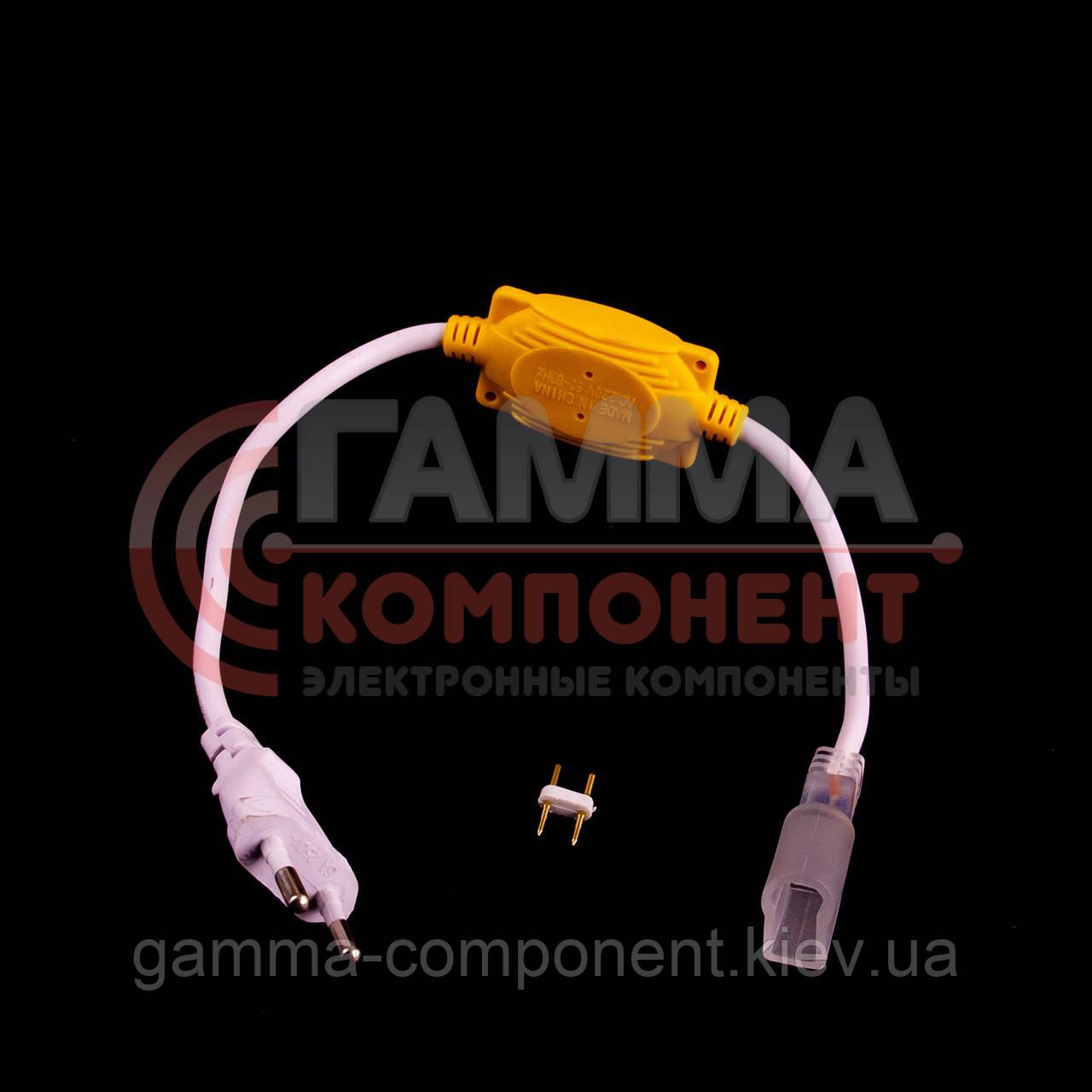 Адаптер питания для светодиодного неона 220В AVT smd 2835-120 лед/м + коннектор 2pin