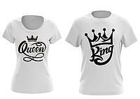 """Футболки для двоих """"Король и Королева"""""""