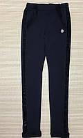 Леггинсы лосины теплые на девочку на меху размеры 122 -152 цвет  черный