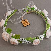 """Свадебные украшения: Свадебный веночек для невесты, бутоньерки """"Свадебный вальс"""""""