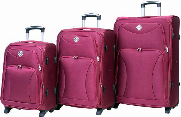 Набор чемоданов Bonro Tourist 3 штуки вишневый (10030302)