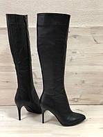 Женские кожаные сапоги на шпильке Возможен отшив в других цветах , фото 1