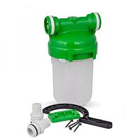 """Корпус магистрального фильтра 5"""" для холодной воды с картриджем под засыпку (Smart - подключение)"""