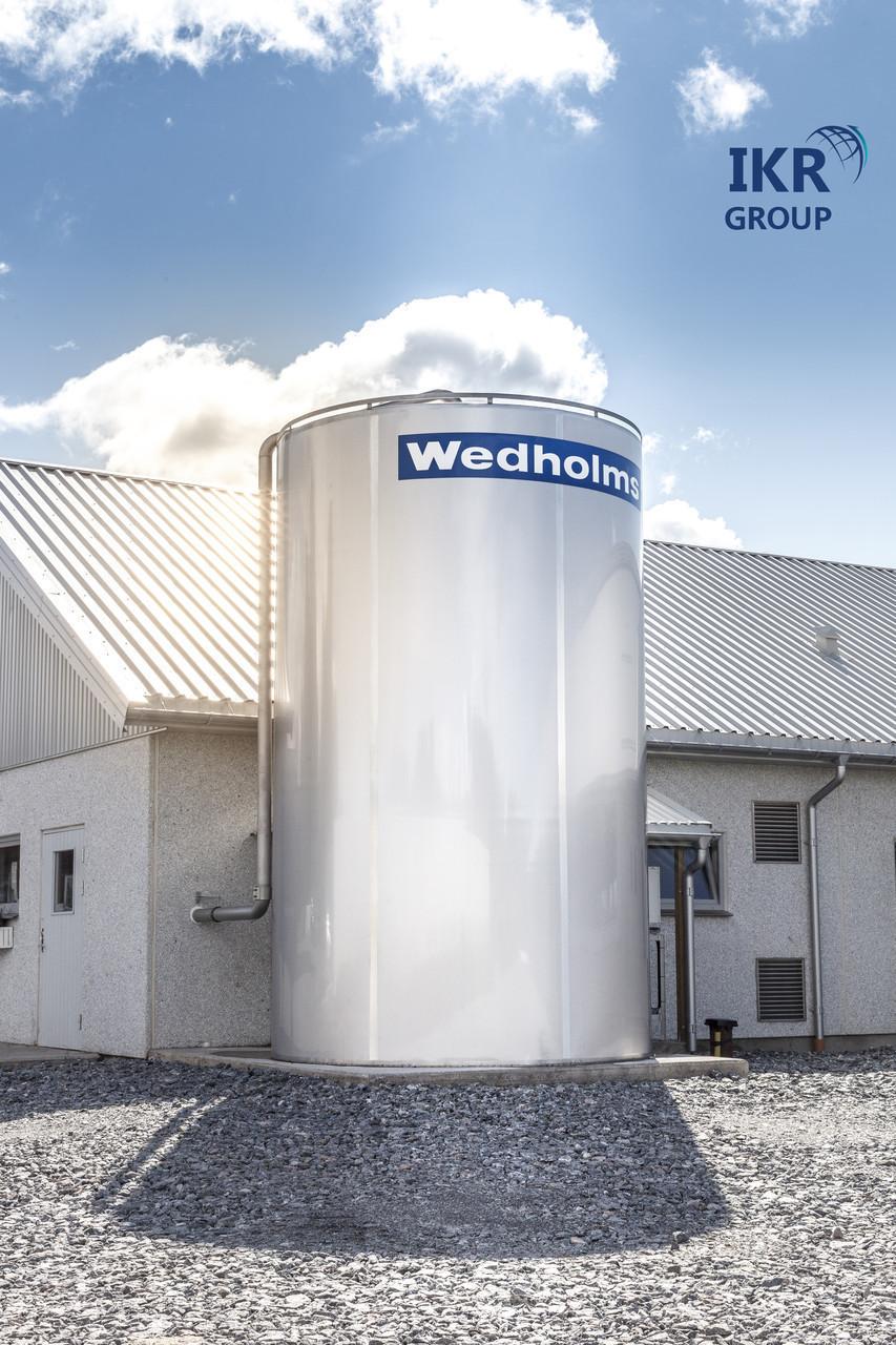 Резервуар для охлаждения молока (бункер) новый Wedholms объемом 35000 литров