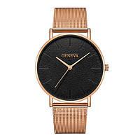 Мужские кварцевые наручные часы Geneva Platinum Black