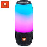 Колонка портативная беспроводная JBL Pulse 3, Большая влагозащитная Bluetooth Черная с светомузыкой, Lux копия