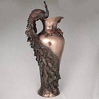 Декоративная ваза Veronese Павлин 50 см 10505 V4 с бронзовым покрытием