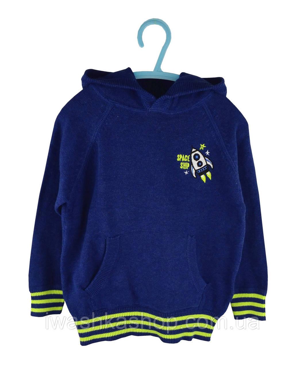 Джемпер тонкой вязки с капюшоном для мальчика 5 - 6 лет, р. 116, Kiki&Koko / KIK