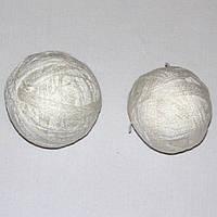 Остатки пряжи, нитки для вязания БЕЛЫЕ, акрил, вес 250 гр