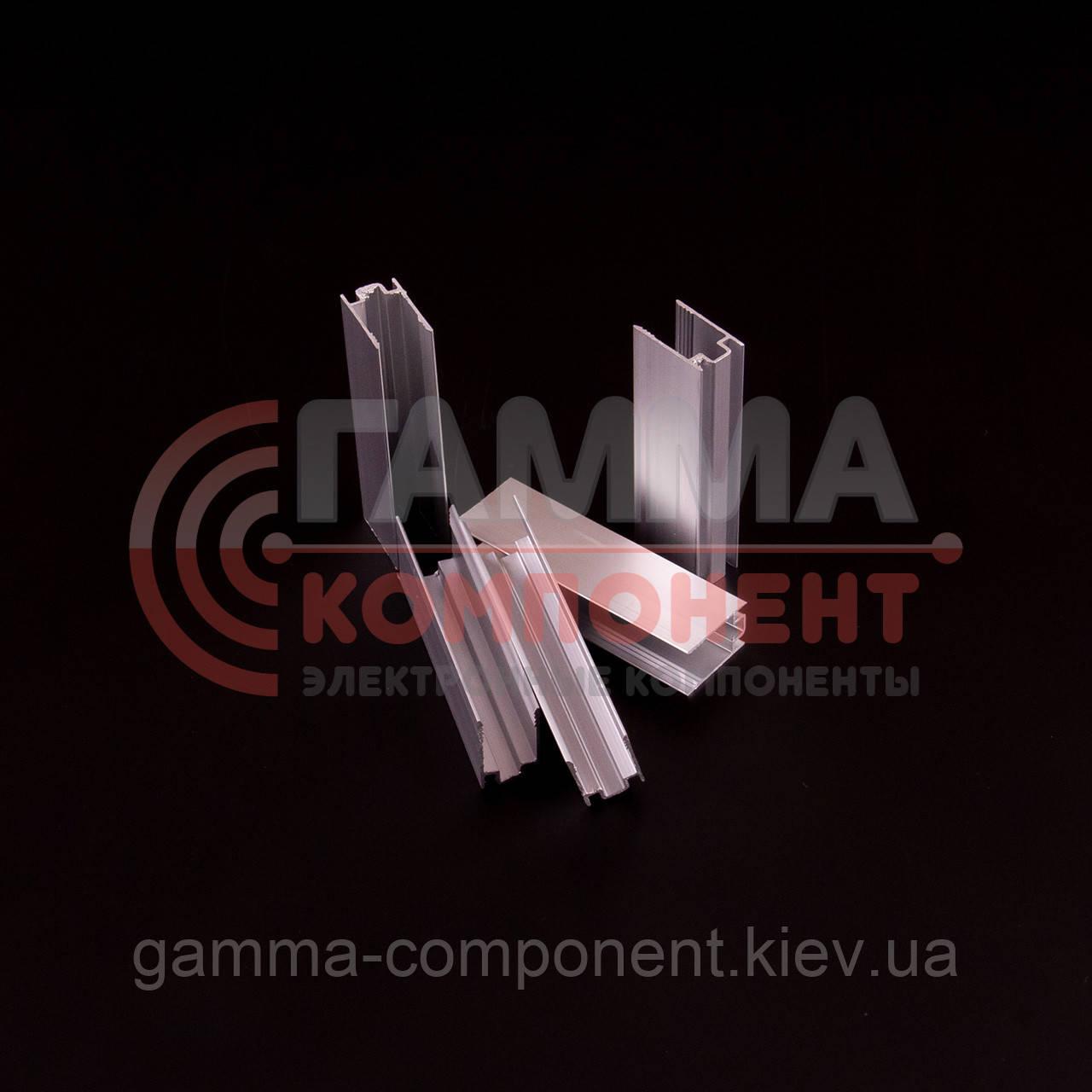 Профиль алюминиевый (крепеж) для светодиодного неона 220В, 5 см