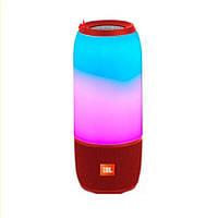 Колонка портативная беспроводная JBL Pulse 3, Большая влагозащитная Bluetooth Красная светомузыка, Lux копия