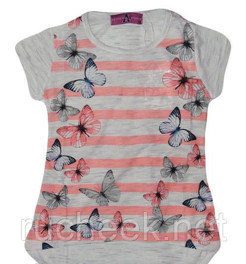 Легенькая футболка для девочек 3 - 7 лет, р-ры 98 - 128, Active Sports, Венгрия