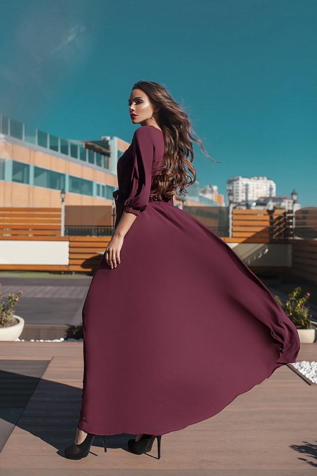 Длинное женское платье Эльвира