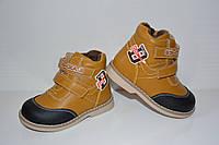 Ботинки демисезонные Сказка для мальчика, коричневый, 21 (13 см)