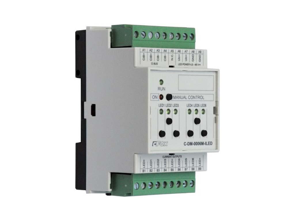 C-DM-0006M ILED шестиканальный модуль управления по току RGB LEDs 150/350/500/700 мА