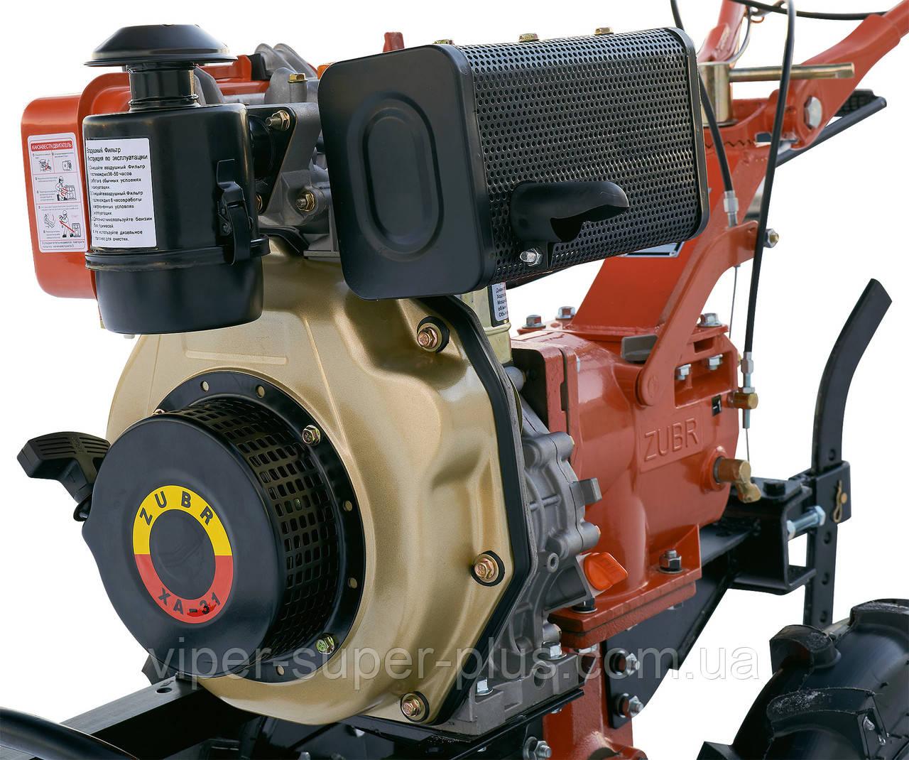 Двигатель ЗУБР (ZUBR) м/б 178F 6 л.с дизель воздушное охлаждение 4,41 кВт 3600 об/мин, 296 см3 ручной стартер