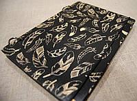 Скетчбук Перья. Блокнот с деревянной обложкой Feathers.