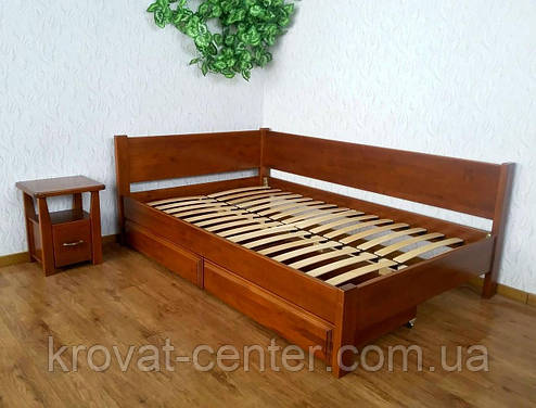 """Полуторная кровать из натурального дерева с выдвижными ящиками """"Шанталь"""", фото 2"""