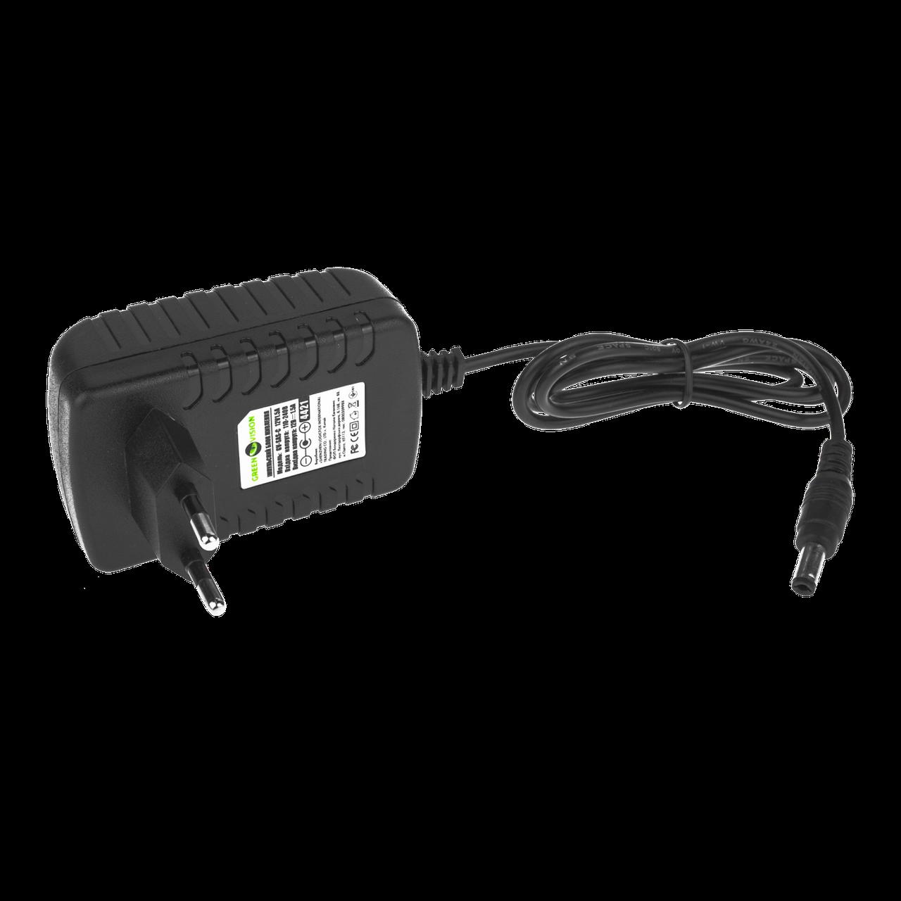 Импульсный адаптер питания Green Vision GV-SAS-С 12V1,5A (18W)
