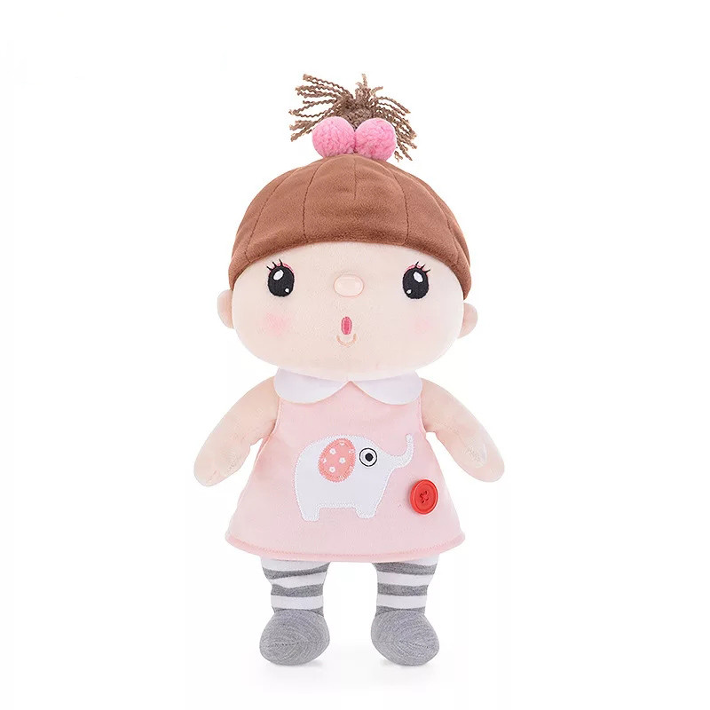 Мягкая игрушка Кукла в розовом платье, 30 см
