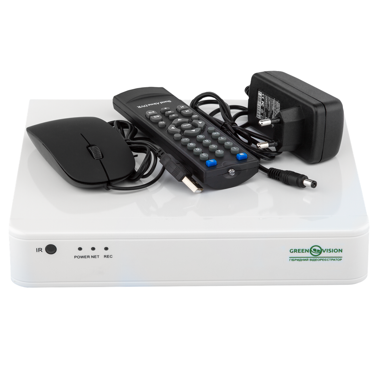 Видеорегистратор для гибридных, AHD и IP камер GREEN VISION GV-S-036/08 1080N