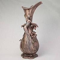 Декоративная ваза Veronese Девушка в мечтах 45 см 10343 V4 с бронзовым покрытием