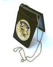 Обложка на удостоверение НПУ с местом под жетон, фото 3