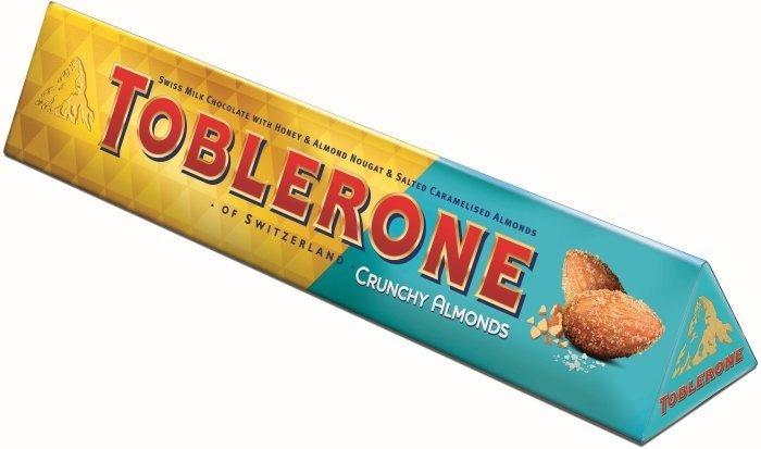 Шоколад Toblerone  Молочный с хрустящим миндалем100 г