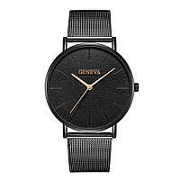 Кварцевые часы Geneva So Black