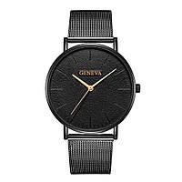 Мужские кварцевые наручные часы Geneva So Black