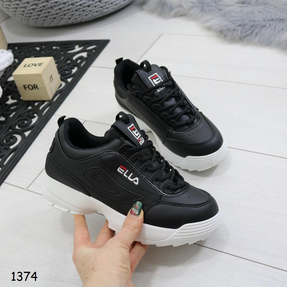 c0f1854e Кроссовки черные на высокой белой подошве, женская спортивная обувь для бега,  занятий спортом -