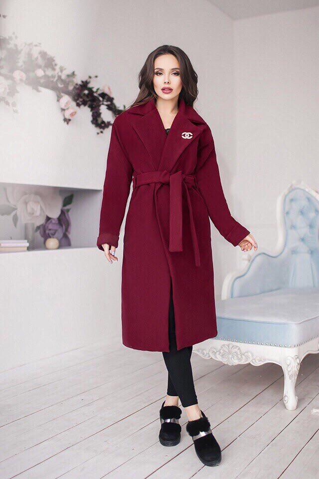 Длинное кашемировое пальто Lizi