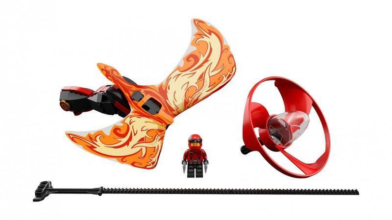 """Конструктор из серии нинзяго """"NINJA: Зейн Повелитель дракона"""" (оранжевый), 10932"""