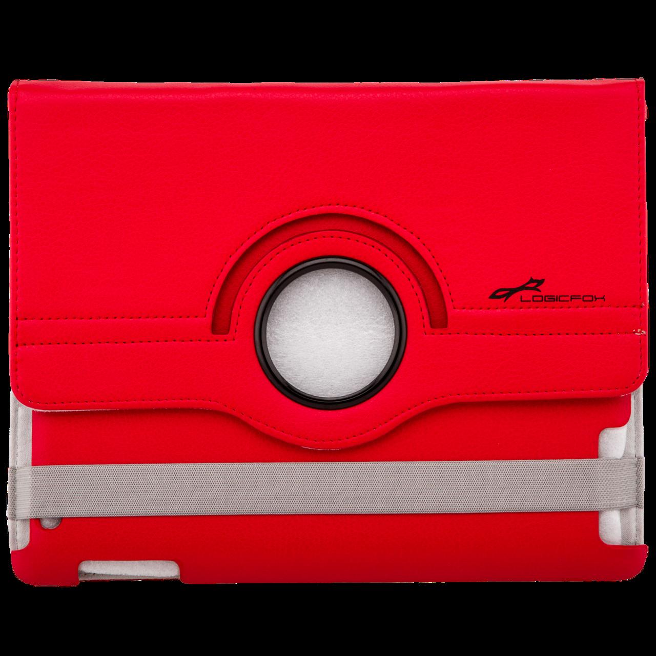 """Чехол с подставкой для iPad, планшета LF-832RD до 9.7"""" кожзам, красный"""