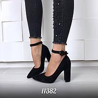Жіночі чорні туфлі на підборах, фото 1