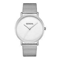 Кварцевые часы Geneva White Silver
