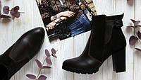 Женские ботинки на каблуке Натурашльная кожа и замша Возможен отшив в других цветах