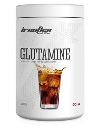 Глютамин IronFlex - Glutamine (500 грамм) cola-lime/кола-лайм