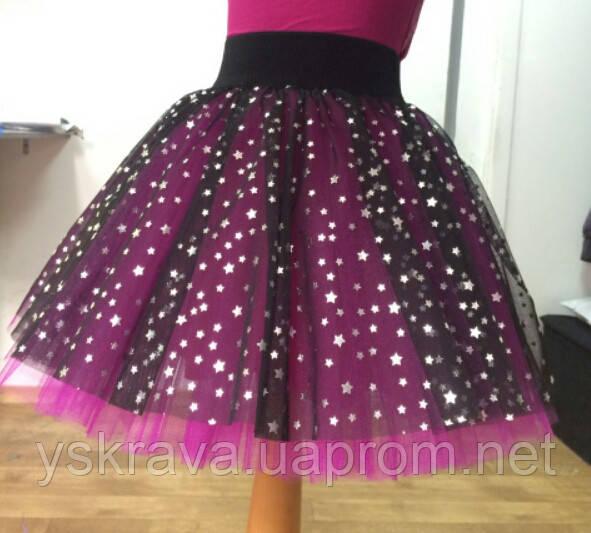 fdfd0c2238f Пышная юбка из фатина в звезды цвет малина  продажа
