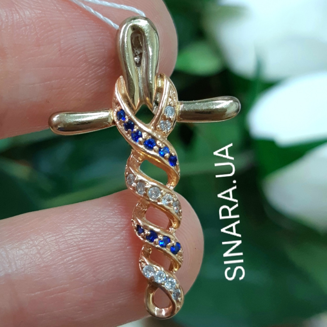 Золотой крестик Анкх - Женский золотой крестик