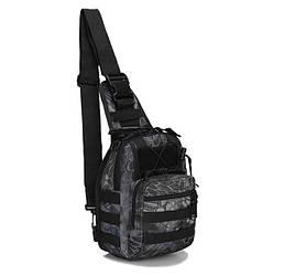 Сумка рюкзак тактична міська повсякденна ForTactic Чорний пітон