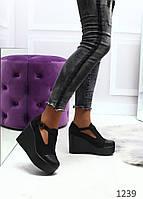 Жіночі туфлі на танкетці, фото 1