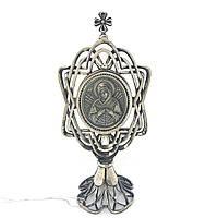 Икона из серебра 925 пробы Брюс Богородица Семистрельная