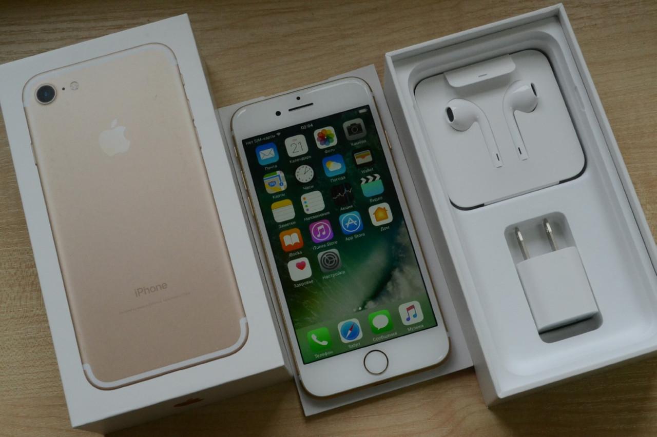 Новый Apple Iphone 7 256Gb Gold Neverlock Оригинал!