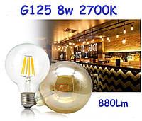 Светодиодная ретро-лампа Эдисона Loft LED VITOONE G125 8W 800Lm, фото 1