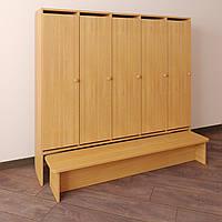 Шкаф для детской одежды Секционный с лавочкой Бук